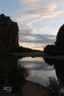The stunning colours of Windjana Gorge